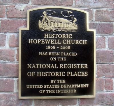 Historic Hopewell Marker image. Click for full size.