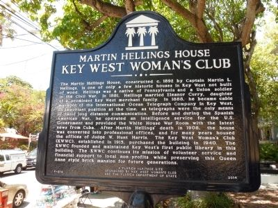 Key West Woman's Club Marker image. Click for full size.