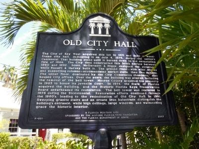 Old City Hall Marker image. Click for full size.