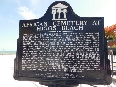 African Cemetery at Higgs Beach Marker image. Click for full size.