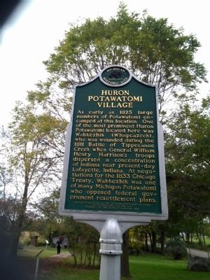 Huron Potawatomi Village Marker image. Click for full size.