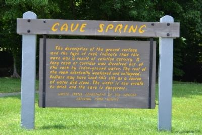 Cave Spring Marker image. Click for full size.
