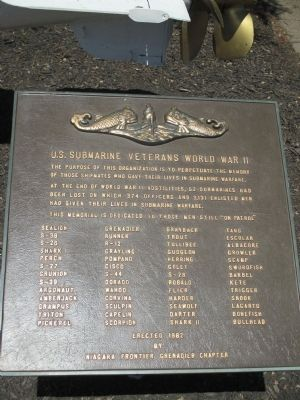 U.S. Submarine Veterans World War II Memorial image. Click for full size.