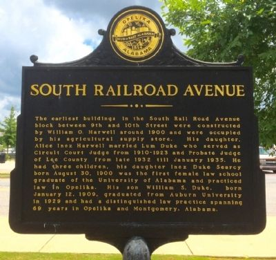 South Railroad Avenue Marker image. Click for full size.
