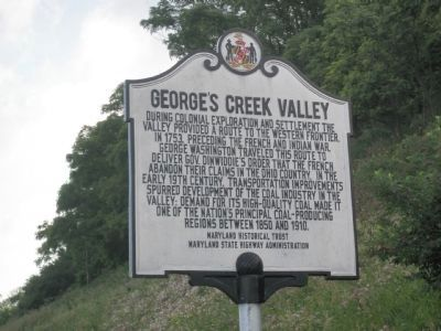 George's Creek Valley Marker image. Click for full size.