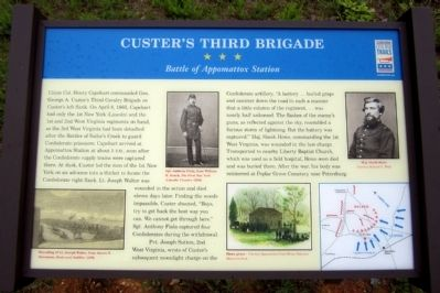 Custer's Third Brigade Marker image. Click for full size.