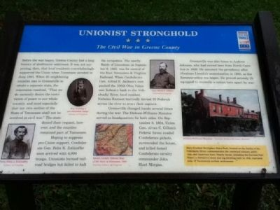 Unionist Stronghold Marker image. Click for full size.