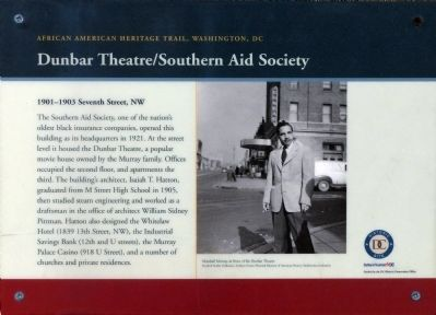 Dunbar Theater/Southern Aid Society Marker image. Click for full size.