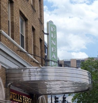 Dunbar Theater Marquee image. Click for full size.