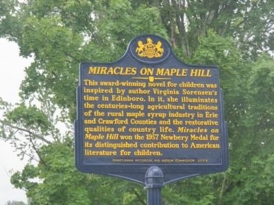 Miracles On Maple Hill Marker image. Click for full size.