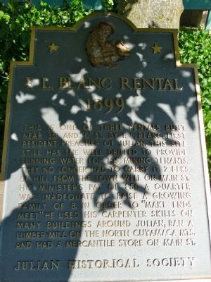 F.L. Blanc Rental Marker image. Click for full size.