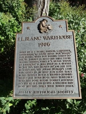 F.L. Blanc Warehouse Marker image. Click for full size.