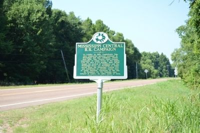 Mississippi Central R.R. Campaign Marker image. Click for full size.