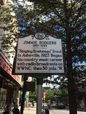 Jimmie Rodgers Marker image. Click for full size.