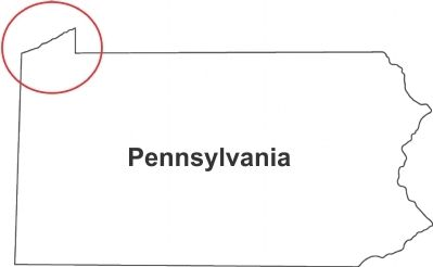 The Erie Triangle on Pennsylvania's Northwestern Edge image. Click for full size.