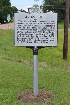 Jacks Creek Marker image. Click for full size.