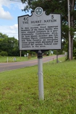 The Hurst Nation Marker image. Click for full size.