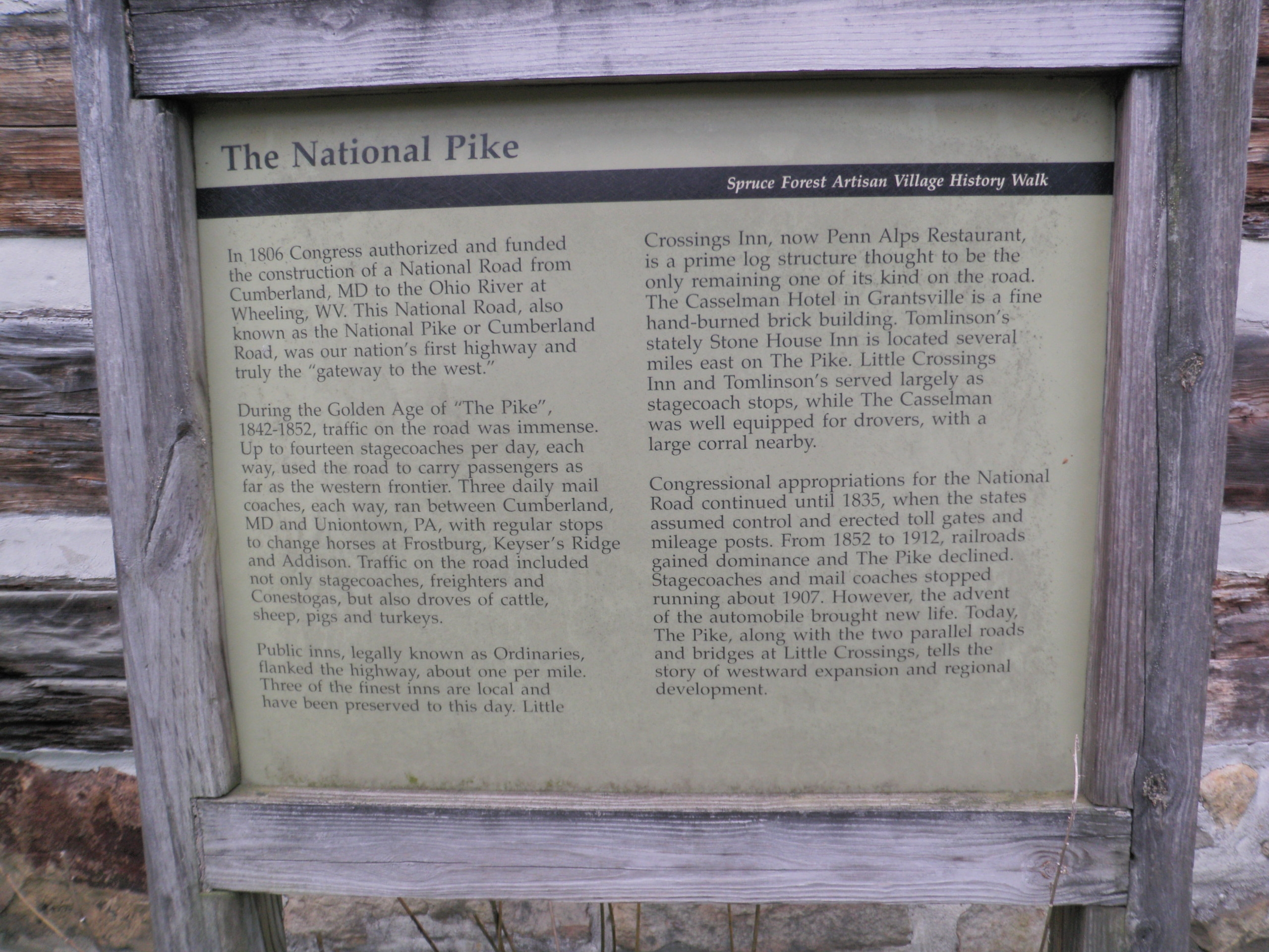 The National Pike Marker