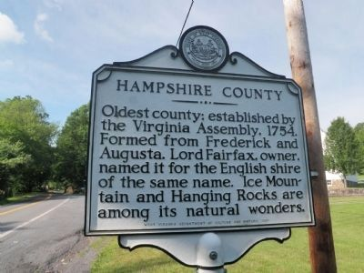 Hampshire County Marker image. Click for full size.