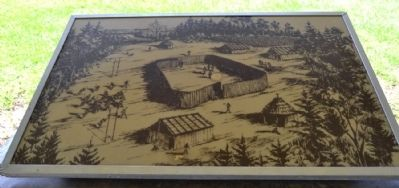 Drawing of Chickasaw Village image. Click for full size.