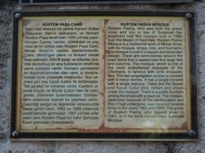 Rustem Pasha Mosque Marker image. Click for full size.