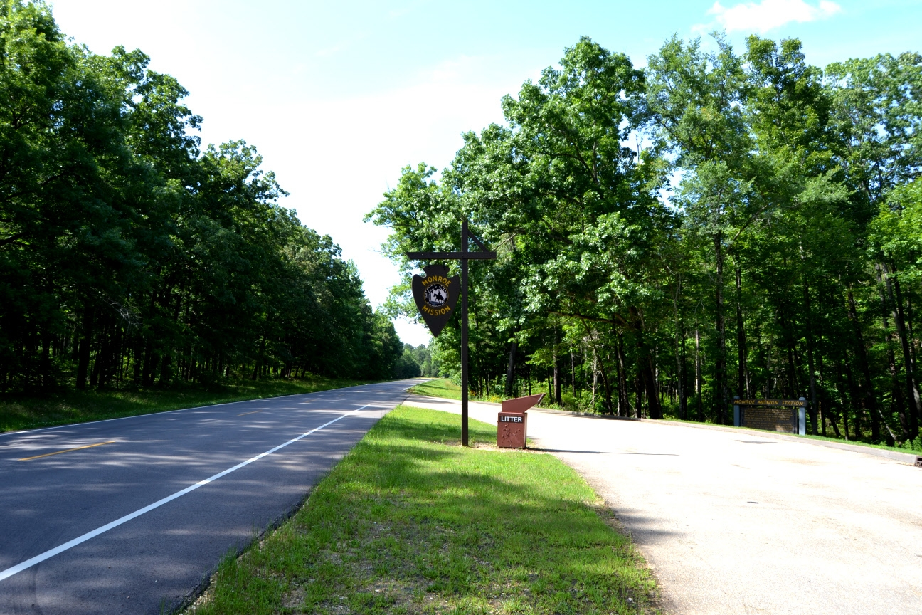Monroe Mission Turnout on the Natchez Trace Parkway