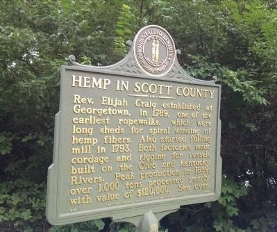 Hemp in Scott County Marker image. Click for full size.