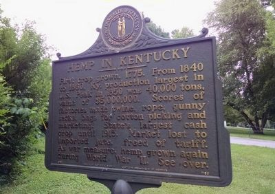 Hemp in Kentucky Marker image. Click for full size.