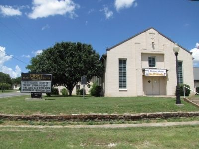 First Baptist Church of Godley and Marker image. Click for full size.
