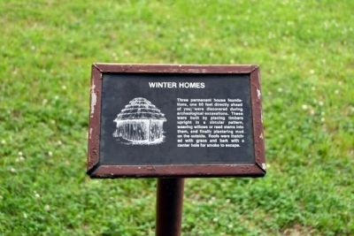 Winter Homes Info Sign image. Click for full size.