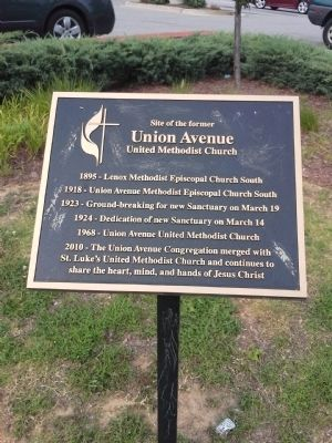 Site of the former Union Avenue United Methodist Church Marker image. Click for full size.