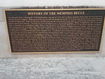 History of the Memphis Belle Marker image. Click for full size.