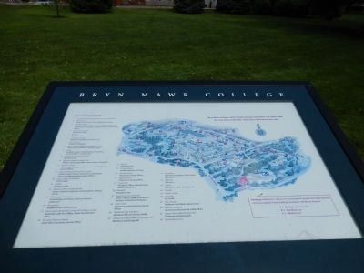Bryn Mawr College map image. Click for full size.