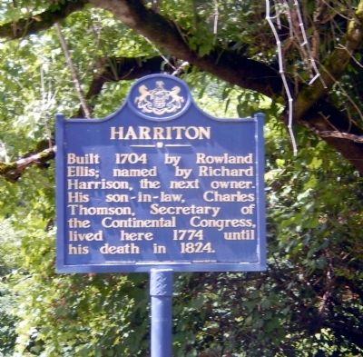 Harriton Marker image. Click for full size.