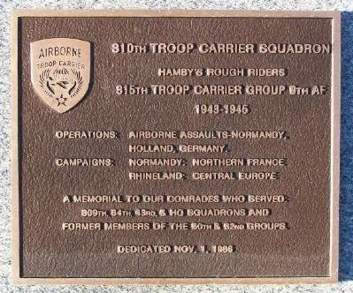 310th Troop Carrier Squadron Marker image. Click for full size.