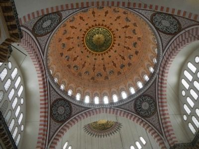 Suleymaniye Mosque and Social Complex, Mosque dome (interior) image. Click for full size.