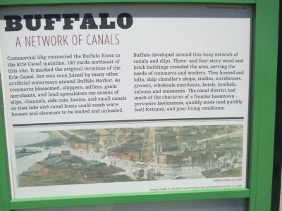Buffalo - A Network of Canals Marker image. Click for full size.
