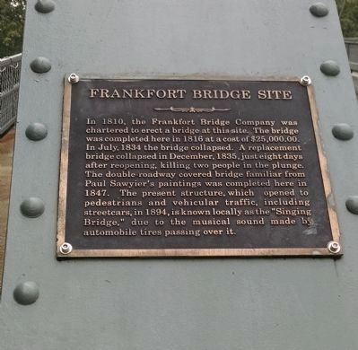 Frankfort Bridge Site Marker image. Click for full size.
