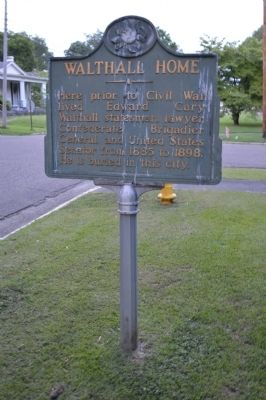 Walthall Home Marker image. Click for full size.