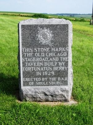 The Old Chicago Stageroad Marker image. Click for full size.