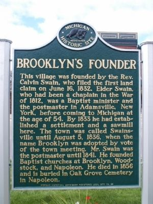 Brooklyn's Founder Marker image. Click for full size.