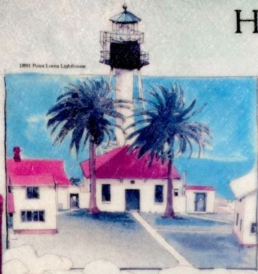 1891 Point Loma Lighthouse image. Click for full size.