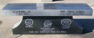 47th Fighter Squadron Memorial Bench image. Click for full size.