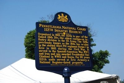 Pennsylvania National Guard Marker image. Click for full size.