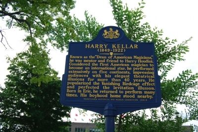 Harry Kellar Marker image. Click for full size.
