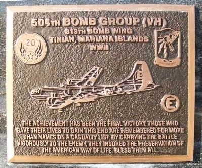 504th Bomb Group (VH) Marker image. Click for full size.