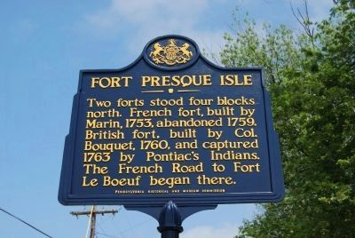 Fort Presque Isle Marker image. Click for full size.