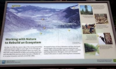 Working with Nature to Rebuild an Ecosystem Marker image. Click for full size.