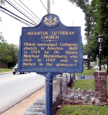 Augustus Lutheran Church Marker image. Click for full size.
