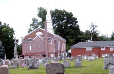 Augustus Lutheran Church-Rear view and Church graveyard image. Click for full size.
